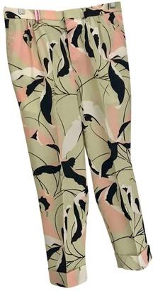 Miu Miu Multicolour Silk Trousers