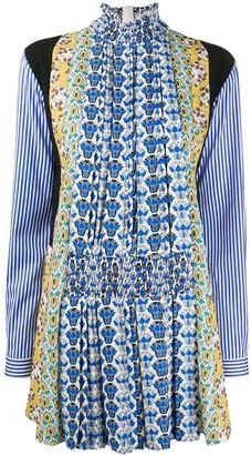 Prada Multi-Print Shirt Dress