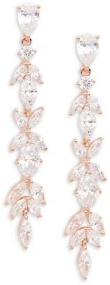 Adriana Orsini Rose Goldtone Crystal Drop Earrings