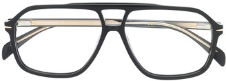 David Beckham Double Nose Bridge Aviator Glasses