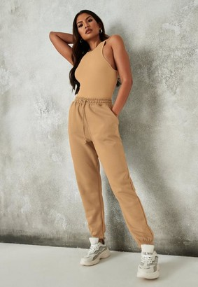 Missguided Petite Tan Oversized 90S Joggers