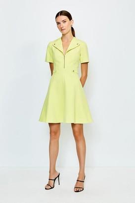 Karen Millen Zip Placket A Line Dress