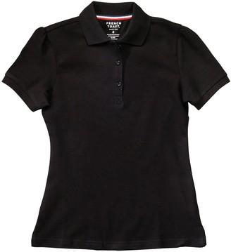 French Toast Girls 4-20 & Plus Size School Uniform Stretch Pique Polo Shirt