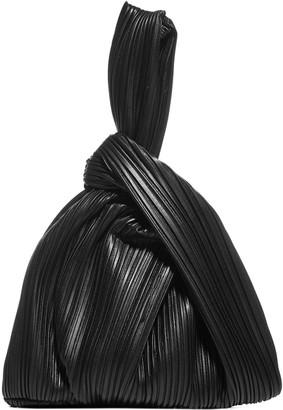 Nanushka Jen Pleated Vegan Leather Clutch Bag