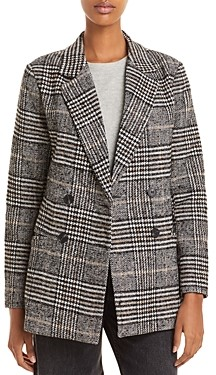 Aqua Plaid Double Breasted Blazer - 100% Exclusive