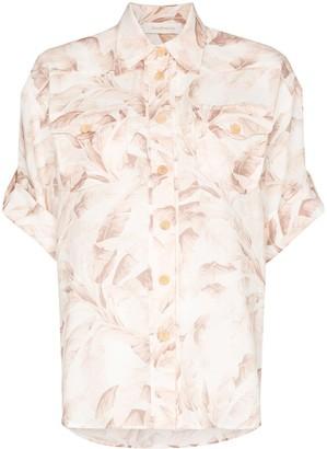 Zimmermann Safari-print short-sleeved shirt