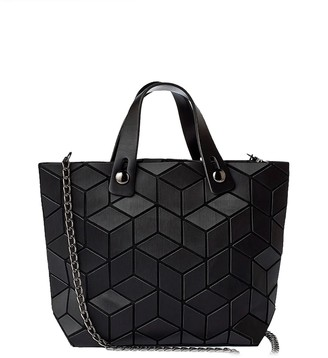 Patrizia Luca Mini Faux Leather Geometric Tote