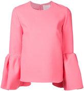 Roksanda balloon sleeves top - women - Polyester/Spandex/Elastane - 8