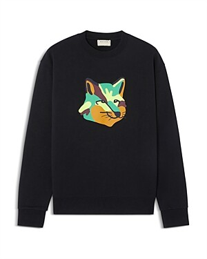MAISON KITSUNÉ Neon Fox French Terry Sweatshirt