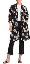 Madewell Floral 3/4 Sleeve Kimono Duster