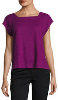 Eileen Fisher Hemp/Cotton Twist Cropped Top