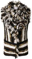 Lanvin striped knitted vest - women - Cotton/Acrylic/Polyamide/Wool - 38