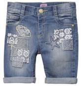 F&F Embroidered Patch Denim Shorts, Toddler Girl's