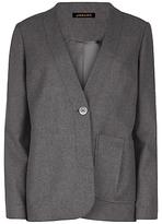 Jaeger Pleat Pocket Detail Jacket, Charcoal