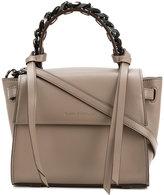 Elena Ghisellini chain detail flap tote - women - Calf Leather - One Size