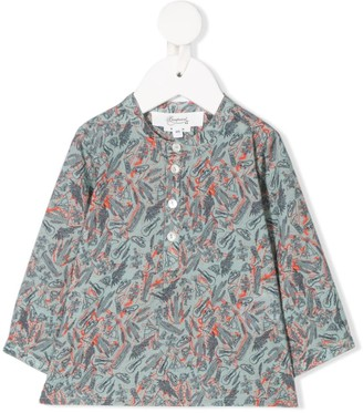 Bonpoint Button Down Printed Blouse
