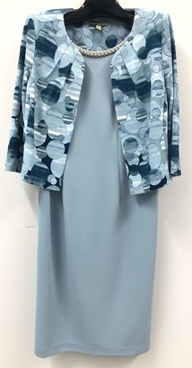 Maya Brooke Women's Abstract Polka Dot Jacket with Dress