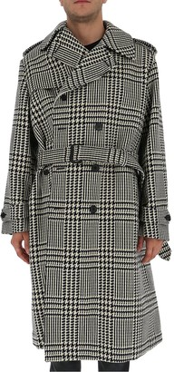 Alexander McQueen Houndstooth Double Breasted Coat
