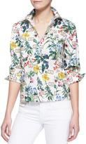 Carolina Herrera Botanical Printed Button-Down Blouse