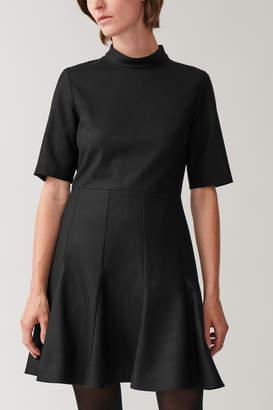 Cos HIGH NECK FITTED-WAIST DRESS