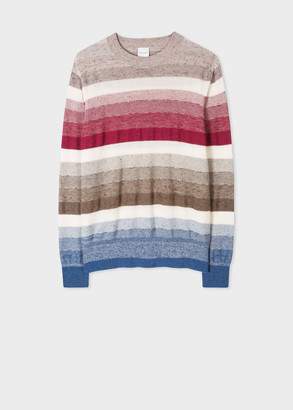 Paul Smith Women's Mixed Stripe Cotton And Linen-Blend Sweater