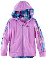 adidas Girls 4-6x Hooded Tricot Lightweight Jacket