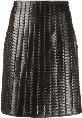 Bottega Veneta Intrecciato A-line skirt