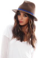 Eugenia Kim Theo 1 Hat in Pecan/Cobalt