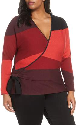 Nic+Zoe New Wave Colorblock Faux Wrap Top
