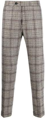 Berwich plaid tailored trousers
