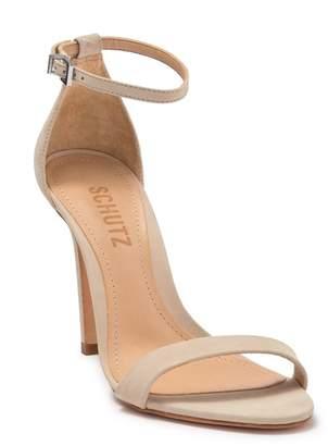 Schutz Cadey Lee Suede Stiletto Sandal
