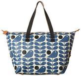 Orla Kiely Bird-Blue Zip Shopper Bag