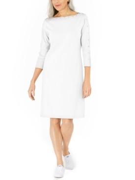 Karen Scott Cotton Studded Swing Dress, Created for Macy's