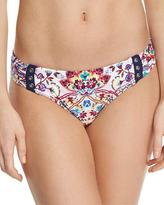 Nanette Lepore Festival Folkloric Charmer Shirred-Side Swim Bottom
