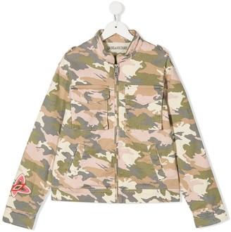 Zadig & Voltaire Kids Camouflage Print Jacket