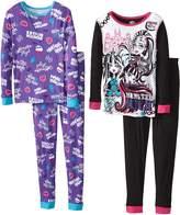 Komar Kids Monster High Big Girls' Character 4-Piece Sleep Set