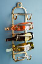 Anthropologie Antique Brass Wine Rack