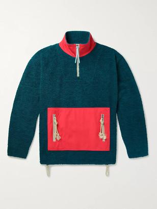 Acne Studios Faraz Cotton-Panelled Fleece Half-Zip Jacket