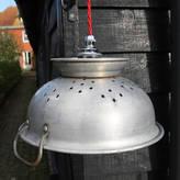 Folly & Glee Vintage Colander Lamp