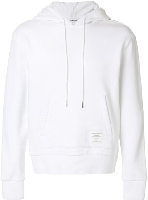 Thom Browne Center-Back Stripe Jersey Hoodie