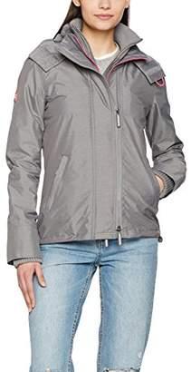 Superdry Women's Tech Hooded Pop Zip Wndcheater Waterproof Jacket,(Size: Small)