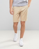 Lyle & Scott Chino Shorts Regular Fit Tonal Eagle Logo In Stone