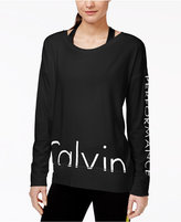 Calvin Klein Long-Sleeve Logo Top