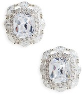 Nina Women's Large Cubic Zirconia Stud Earrings