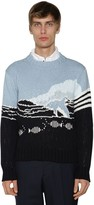 Thom Browne DOLPHIN & SEA KNIT COTTON SWEATER