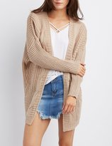 Charlotte Russe Cable Knit Longline Cardigan