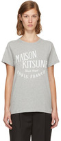 MAISON KITSUNÉ Grey palais Royal T-shirt