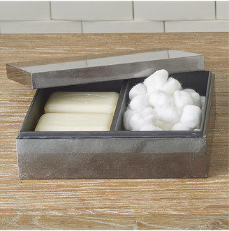 Global Views Gunmetal Silver Leaf Amenity Box