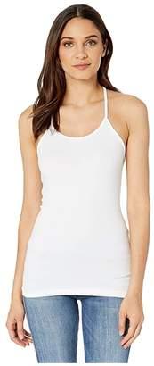 Coobie Lace T-Strap Camisole (White) Women's Clothing