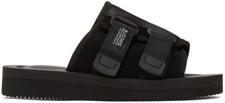 Suicoke Black Kaw-VS Sandals